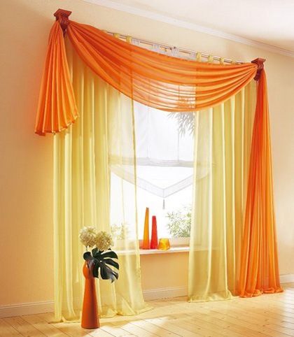 asymmetric-orange-curtain-design